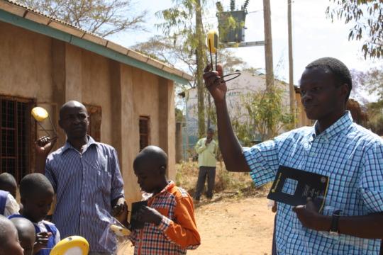 James Musyoka Sharing Information on the Lights