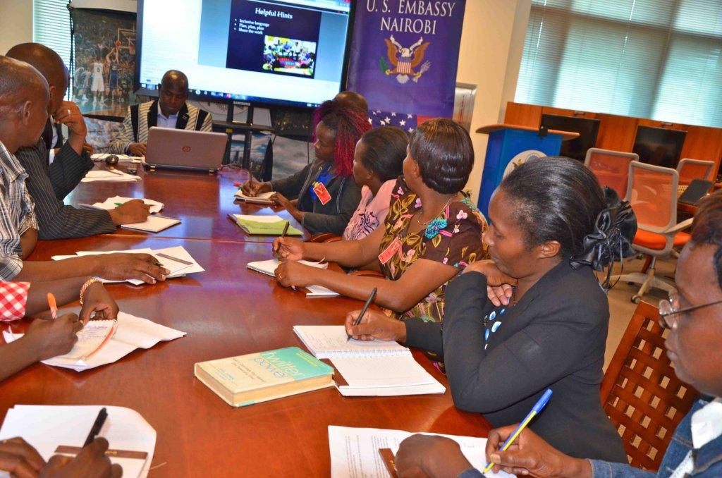 Webinar class  at the US embassy in Nairobi
