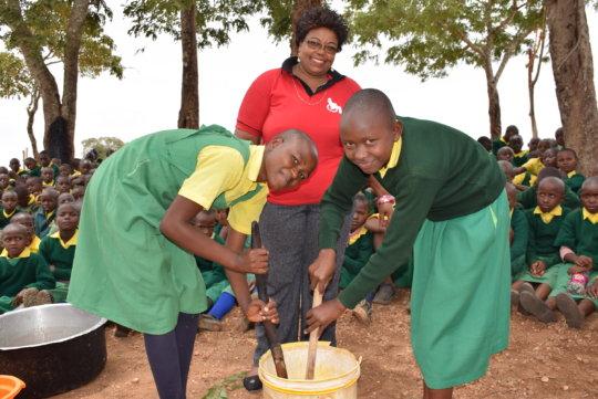 Teaching Health Club Students to Make Soap