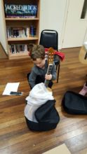 Unwrapping my new guitar