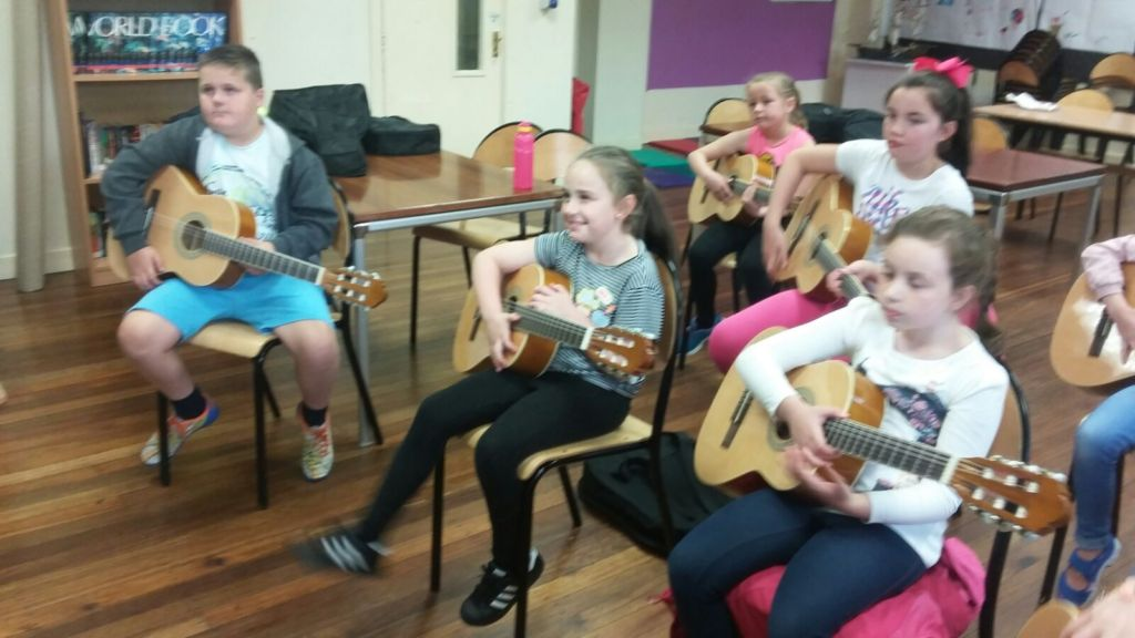 First day at Guitars for Kids in Dublin 12