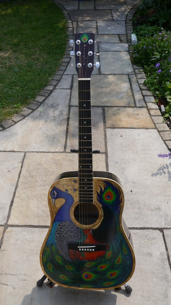 Peacock Guitar (front) by Kevin McSherry