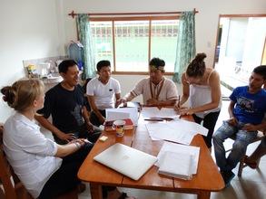 Quechua students in classroom