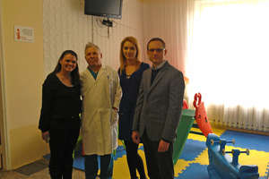 Kelly Zug at her visit to Emilian Cotaga Hospital