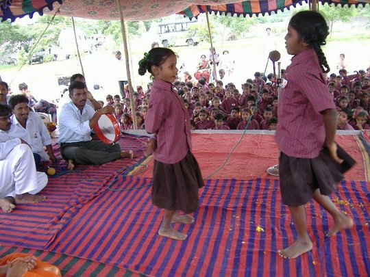 Children are performing Cultural Activities