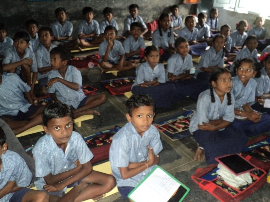 Children at class room