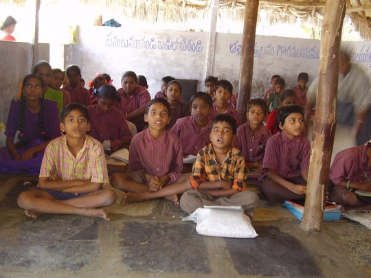 Children at the Class room.