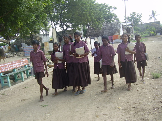 Children are going to Transitional Education Centr