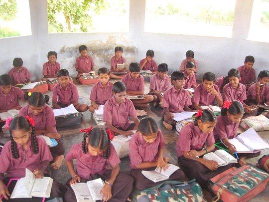 Children in the class