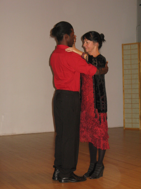 A student performed the tango with Ms. McKeon