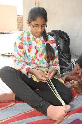 making bracelets....!