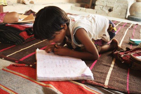 studying hard....!