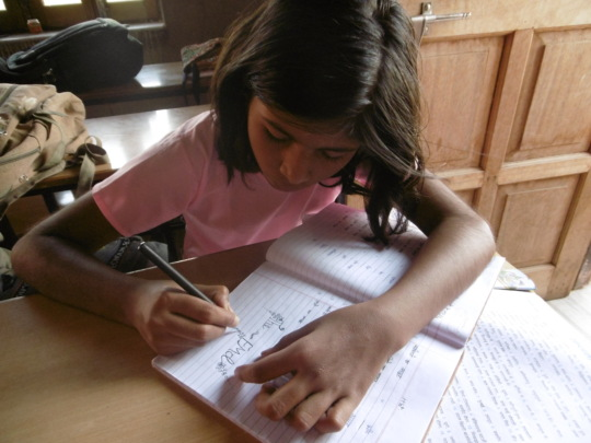 Doing homework!