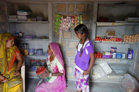 Samda Devi with her new shop