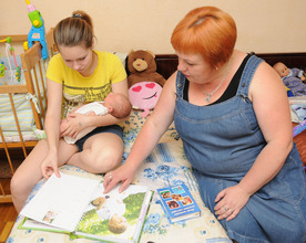Learning with foster carer Natalia