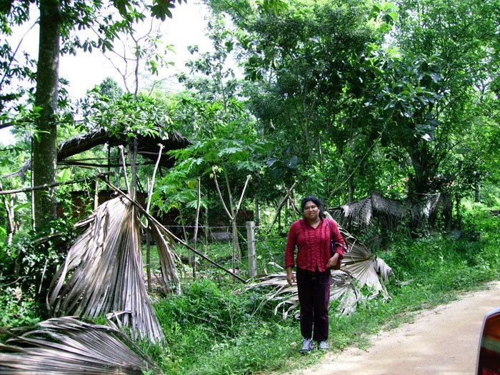 Thushari on her last trip to Sri Lanka