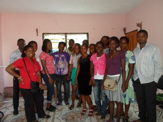 UB Agriculture students after meeting with Sara