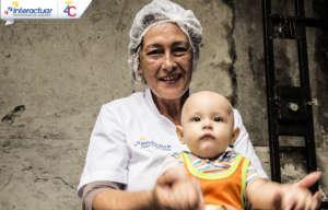 Beatriz and her grandson