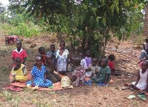 Children watching the festivities