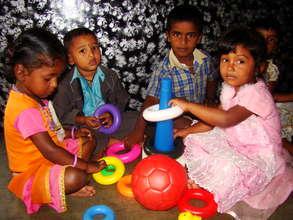 Beneficiaries at a pre-school center