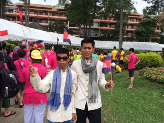 Representing Cambodia at the THAI ASEAN festival