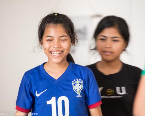 Having a laugh during a dance lesson