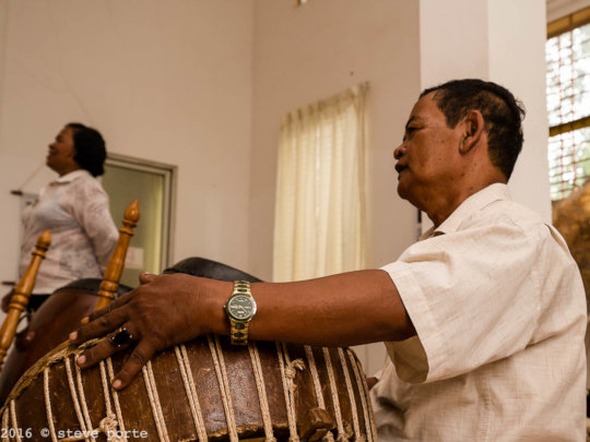 Master Bem with his Yike drum