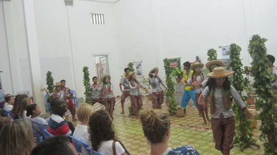 Students performing the Pepper Collection Dance