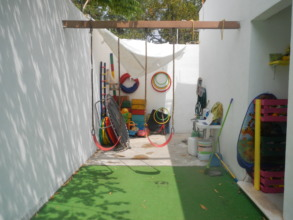 Safe, outdoor play area