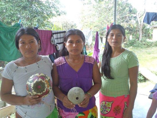 Wounaan women make beautiful baskets