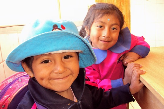 Chicuchas Wasi School's youngest students