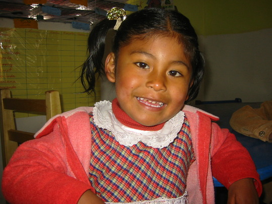New kinder student-excited she goes to school