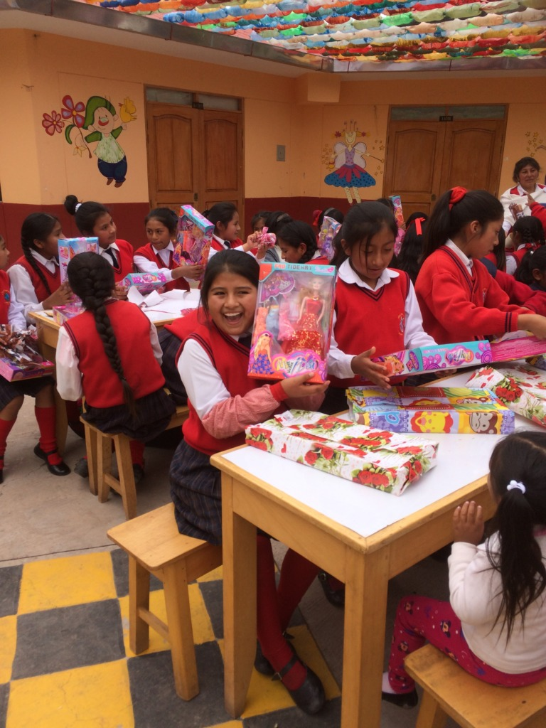 Many girls excited with only Christmas gift