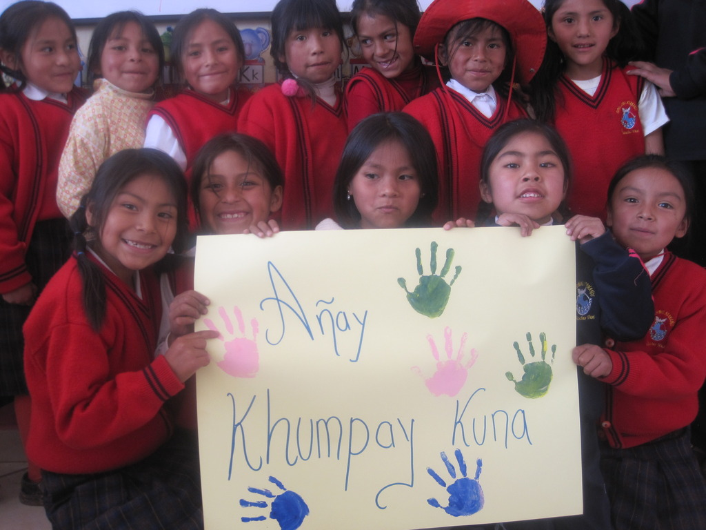Chicuchas Wasi students say Thank YOU in Quechua