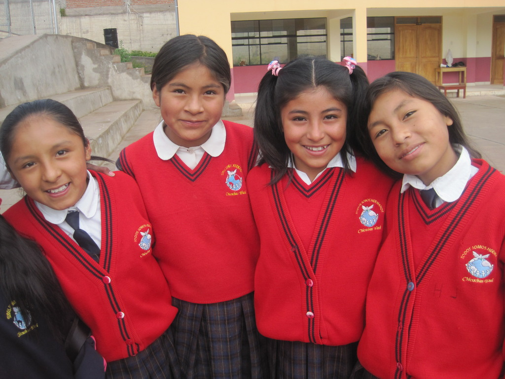 Chicuchas Wasi School 4th grade students