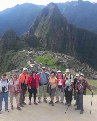 CW tour group thrilled at Machu Picchu