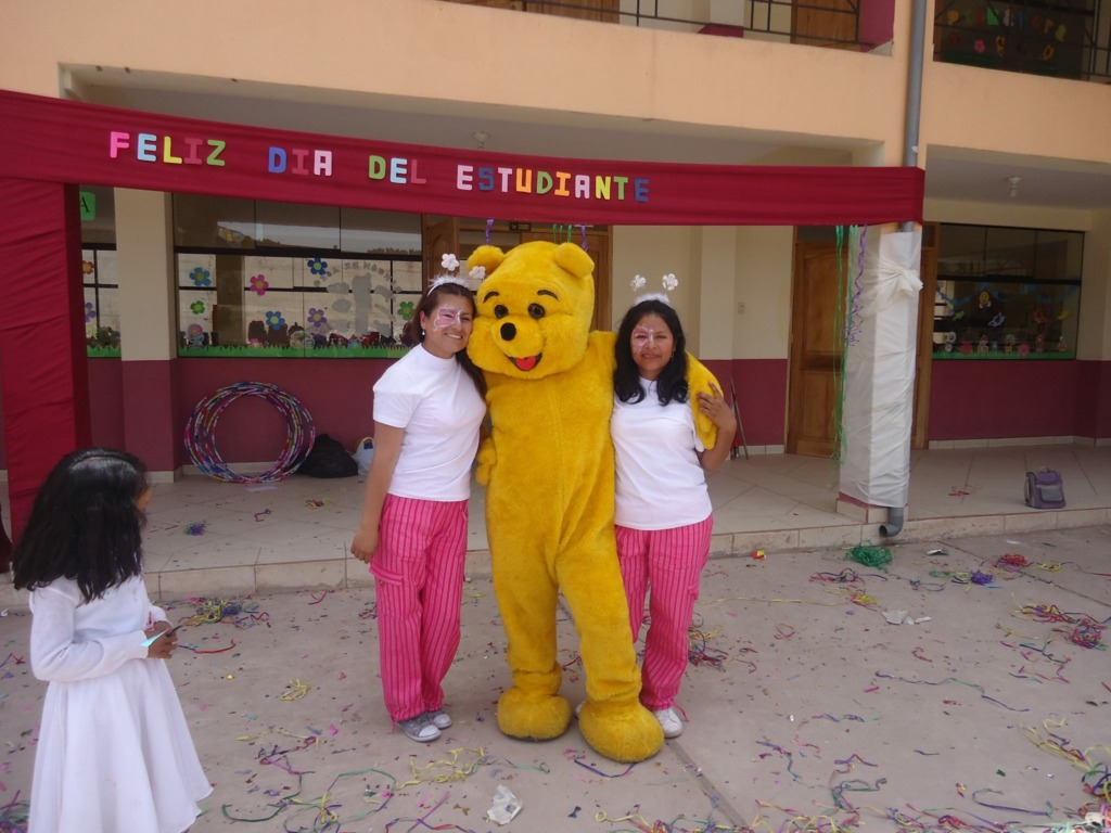Teachers dressup to support girls on student day