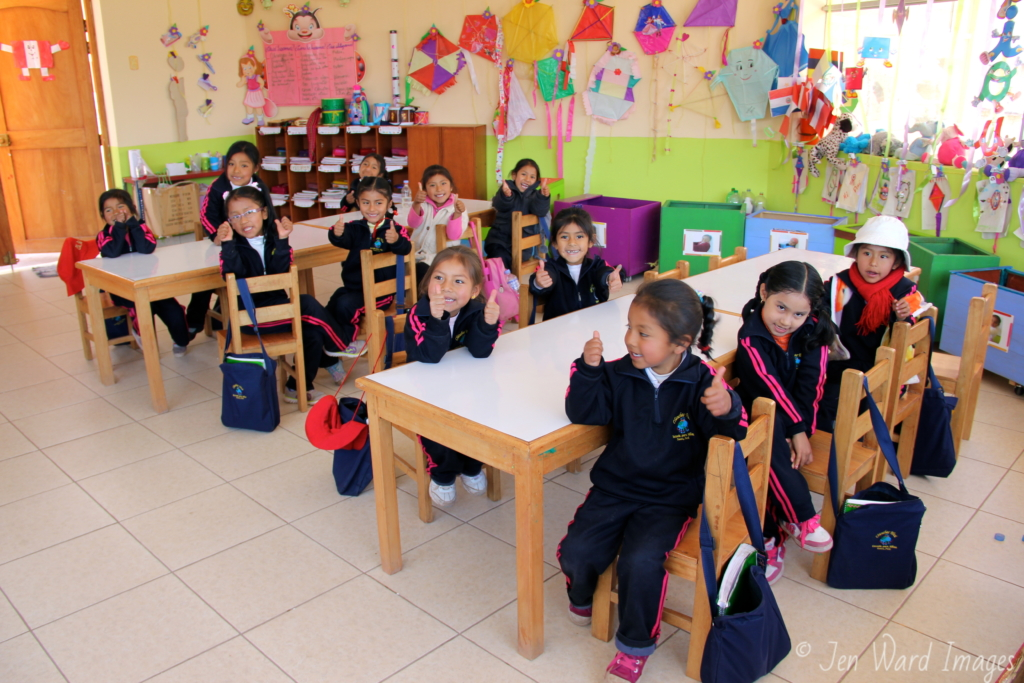 The youngest students are lit up with learning