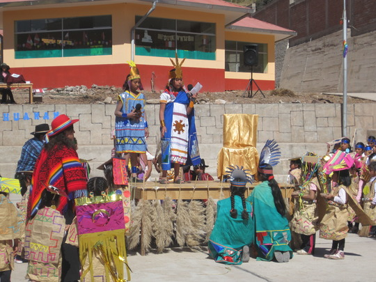 Inti Raymi student history lesson enactment