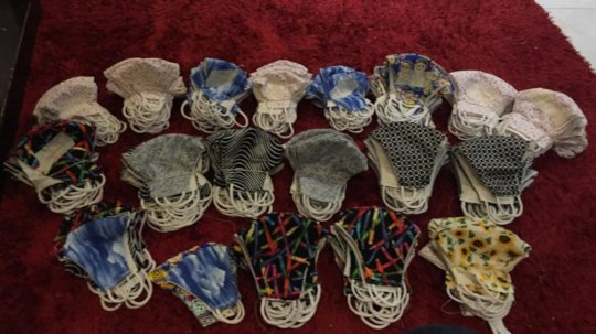 Ruth's home made masks for families, teachers