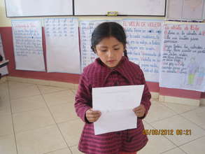 Another student shares her report to class