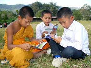 Provide books to children in villages in Laos