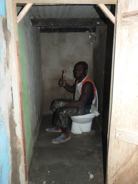 New safer toilets for the school