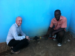 Smiles at new fresh water pipe connection