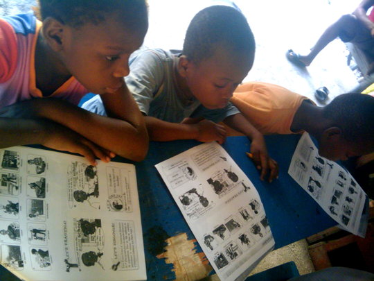 Learning with their worksheets