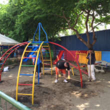 New playground equipment is a big hit!