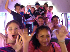 Bus rides together are loco!