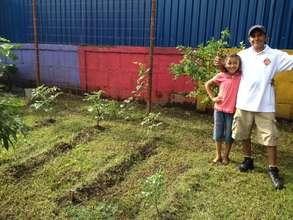 The preschool garden plot is looking great!