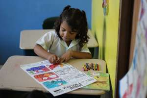 Learning how to avoid malaria & dengue by coloring