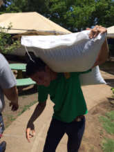 100 pounds of rice is heavier than you'd think!